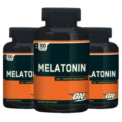 COMBO MELATONINA OPTIMUM NUTRITION 3X - 300 CAPS