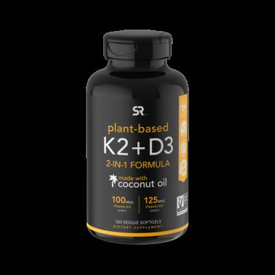 Vitamina K2 + D3 100mcg K2. 125mg D3 60s SPORTS Research