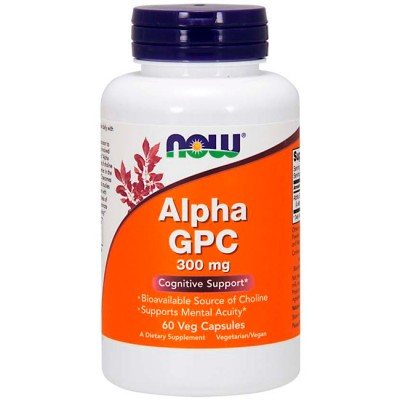 Alpha GPC 300mg (60 cápsulas) - Now Foods