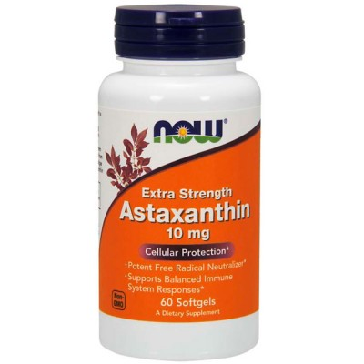 Astaxanthin 10mg (60 softgels) - Now Foods