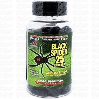 Black Spider 100ct Ephedra ClomaPharma