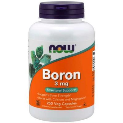 Boro 3mg (250 cápsulas) - Now Foods