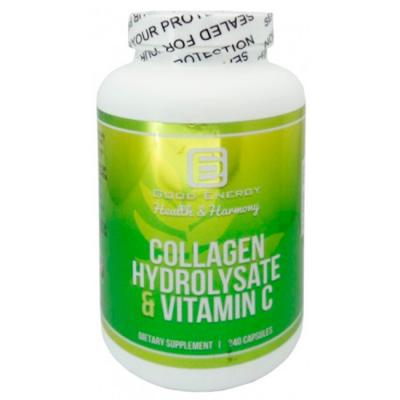 Collagen Hydrolysate & Vitamin C (240 caps) - Good Energy