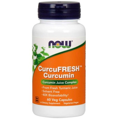 CurcuFresh (60 cápsulas) - Now Foods