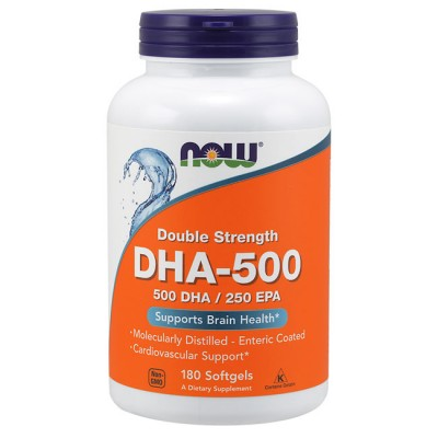 DHA-500 (180 softgels) - Now Foods