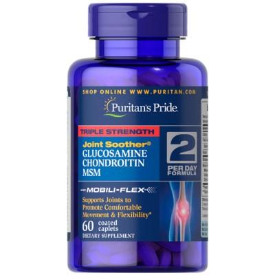 Triple Strength Glucosamine Chondroitin MSM (60caps) - Puritan's Pride