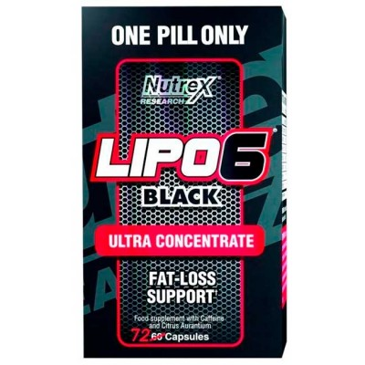 Lipo 6 Black Ultra Concentrado (72 caps) - Nutrex