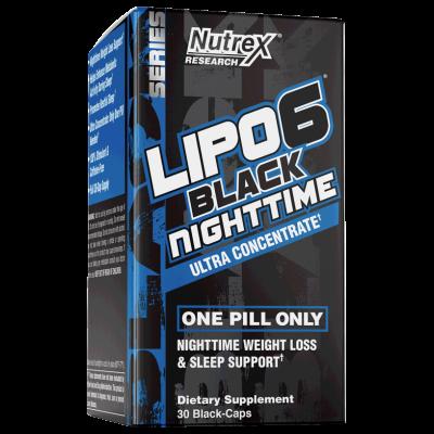 Lipo 6 Black Nighttime (80 cápsulas) - Nutrex