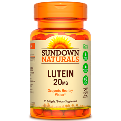 Lutein 20mg (30 softgels) - Sundown Naturals