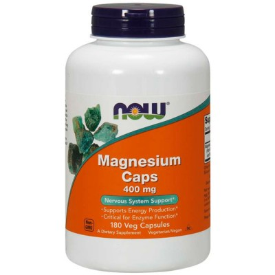 Magnésio 400mg (180 cápsulas) - Now Foods