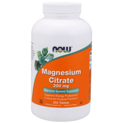 Magnesium Citrate (250 tabletes) - Now Foods