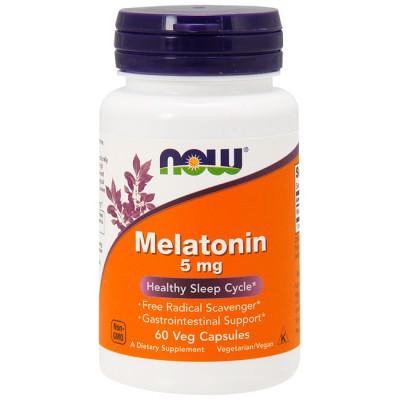 Melatonin 5mg (60 caps) - Now Foods