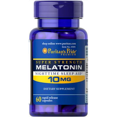 Melatonina 10mg (60 caps) - Puritan's Pride