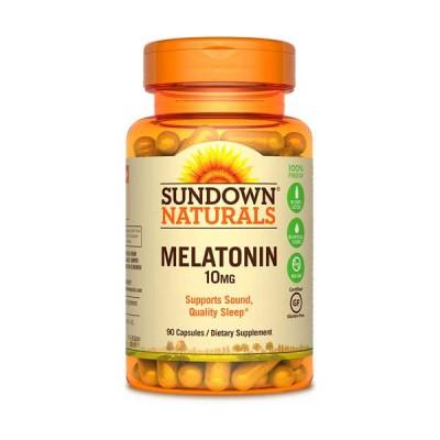 Melatonina 10mg 90Caps - Sundown Naturals