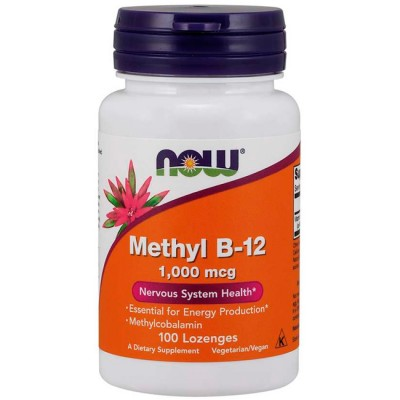 Methyl B12 1000mcg (100 lozenges) - Now Foods