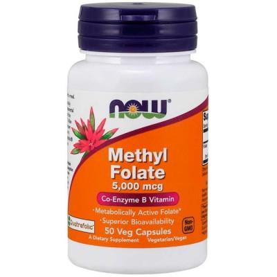 Methyl Folate 5000mcg (50 cápsulas) - Now Foods