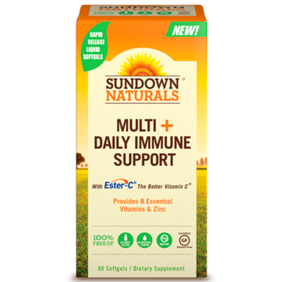 Multi + Daily Immune Support (60 softgels) - Sundown Naturals