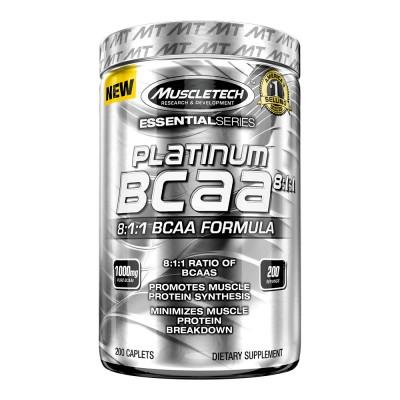 Platinum 100% BCAA 200 Cápsulas - Muscletech