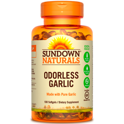 Odorless Garlic (100 softegels) - Sundown Naturals