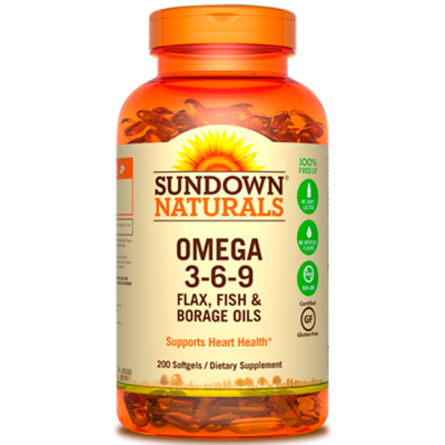 Omega 3-6-9 (200 Softgels) - Sundown Naturals