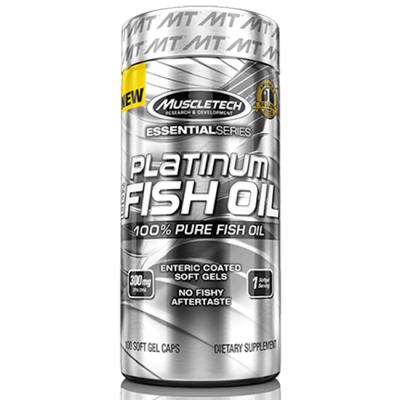 Platinum 100% Fish Oil - 100 Cápsulas - MuscleTech