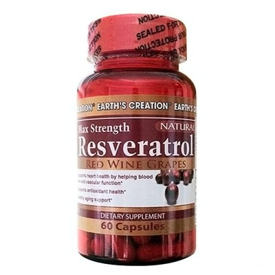 Resveratrol 500mg 60 cápsulas - Earth's Creation