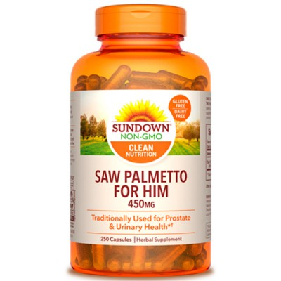 Saw Palmetto 450mg (250 cápsulas) - Sundown Naturals