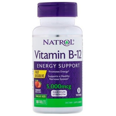 Vitamina B-12 5000mcg (100tabs) - Natrol