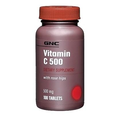 Vitamina C 500mg 100 tabletes - GNC