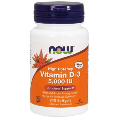 Vitamina D3 5000 (240 softgels) - Now Foods