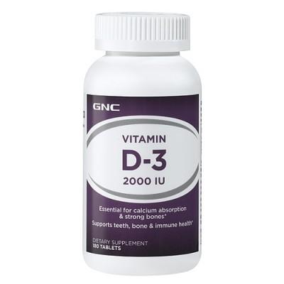Vitamina D-3 5000 IU - 180 Cápsulas - GNC