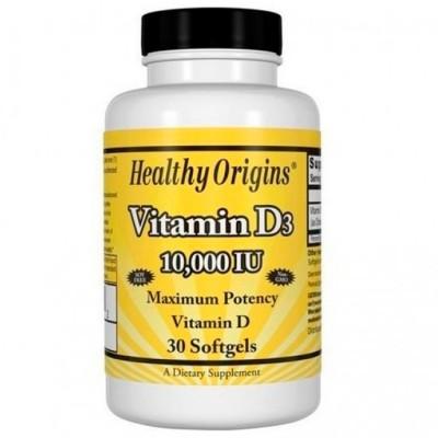 Vitamina D3 10.000IU (30 softgels) - Healthy Origins