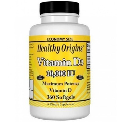 Vitamina D3 10.000 IU (360 softgels) - Healthy Origins
