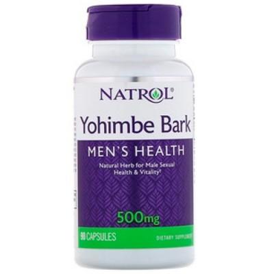 Yohimbe Bark 500mg (90 caps) - Natrol