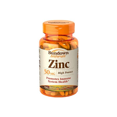 Zinco 50mg - 100 Cápsulas - Sundown Naturals