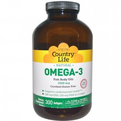Ômega 3 1000mg - 300 softgels - Country Life