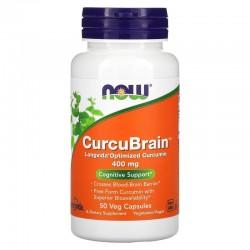 CurcuBrain (50 Caps Veg) - Now Foods