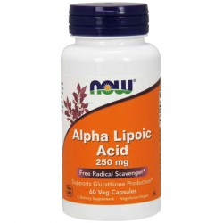 Ácido Alfa Lipóico 250mg (60 cápsulas) - Now Foods