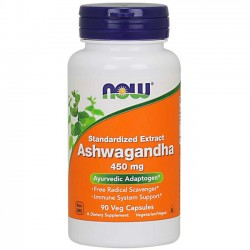 Ashwagandha Extract 450mg (90 cápsulas) - Now Foods