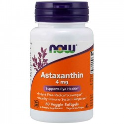 Astaxanthin 4mg (60 softgels) - Now Foods