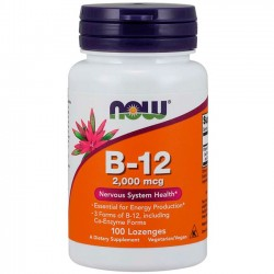 Vitamina B-12 2000 (100 comprimidos) - Now Foods