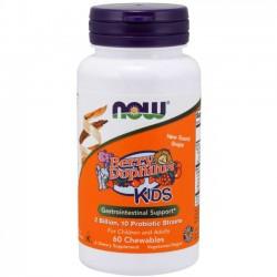 Probiótico Berry Dophilus (60 pastilhas) - Now Foods