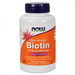Biotina 10mg (120 caps) - Now Foods