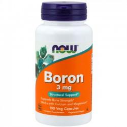 Boro 3mg (100 cápsulas) - Now Foods