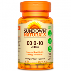 Co Q-10 200mg (40 softgesls) - Sundown Naturals