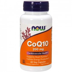 CoQ10 200mg (60 cápsulas) - Now Foods