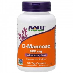 D Mannose 500mg (120 cápsulas) - Now Foods
