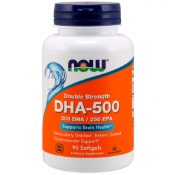 DHA-500 (90 softgels) - Now Foods
