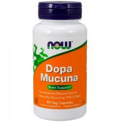 Dopa Mucuna (90 cápsulas) - Now Foods