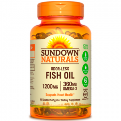 Fish Oil 1200mg (85 softgels) - Sundown Naturals